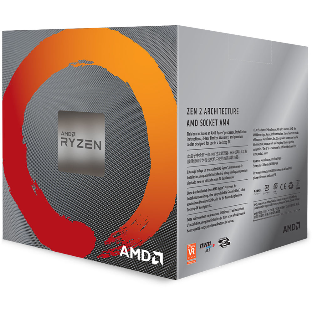 Amd Ryzen 7 3700x 3 6 Ghz Eight Core Am4 100 100000071box B H