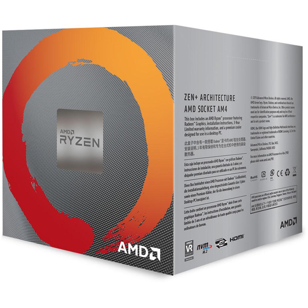 AMD Ryzen 5 3400G 3 7 GHz Quad-Core AM4 Processor