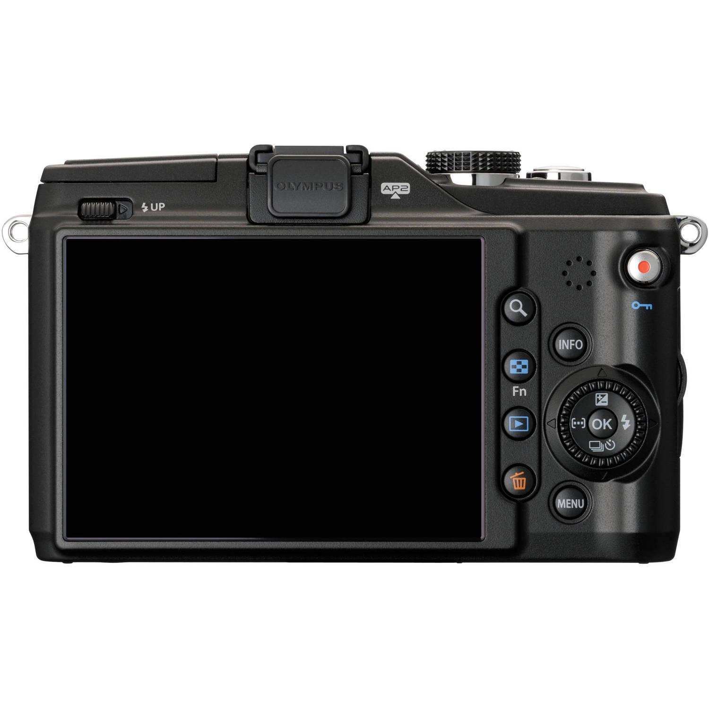 Olympus PEN E-PL2 Digital Camera W/14-42mm II & 40-150mm Lenses (Black)