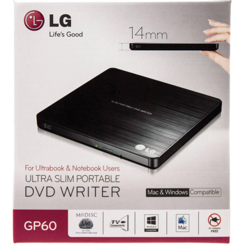 LG GP60NB50 8x Super-Multi Portable DVD Rewriter with M-DISC