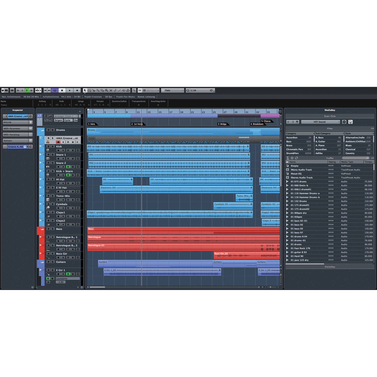Steinberg Cubase Elements 8 - Personal Music Production Software (Retail)