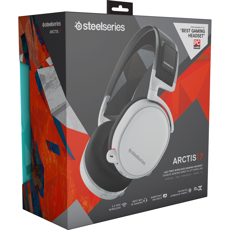 Steelseries Arctis 7 Wireless Gaming Headset White 61464 B H