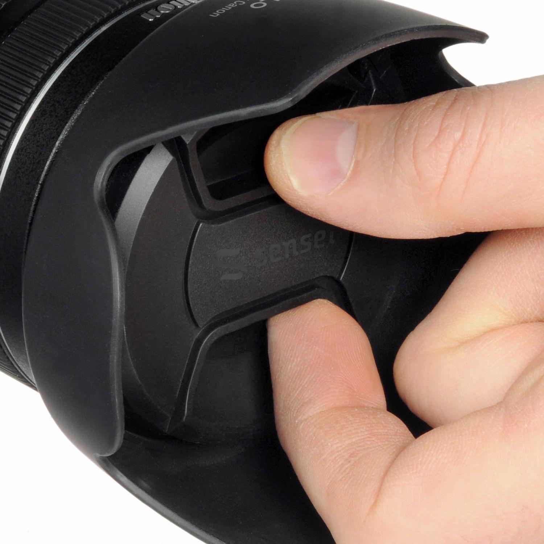 Microfiber Cloth + Lens Cap Lens Cap Center Pinch for Pentax K100D 67mm