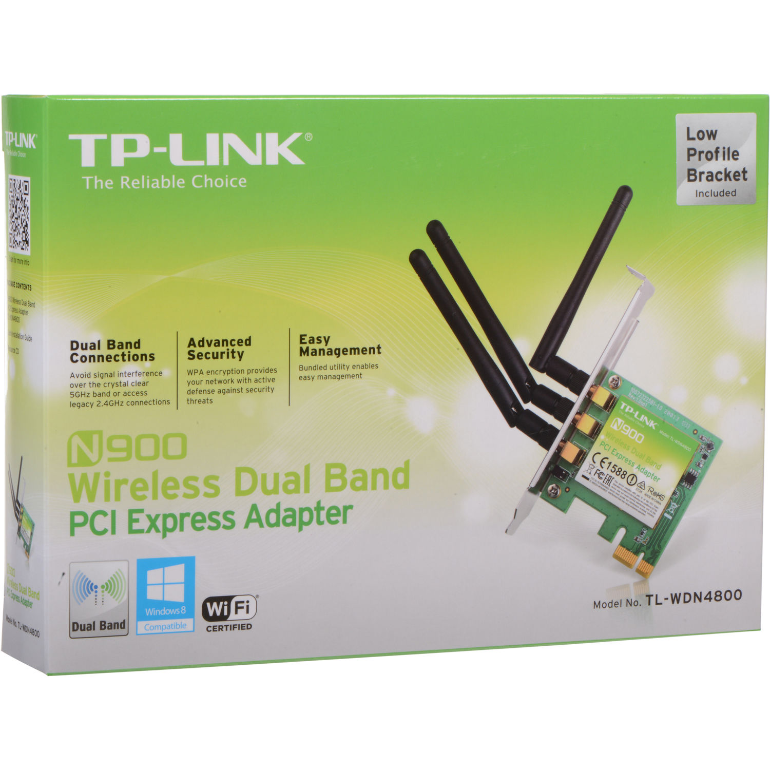 TP-Link 450 Mb/s 2 4/5GHz Wireless N Dual Band PCI Express Adapter