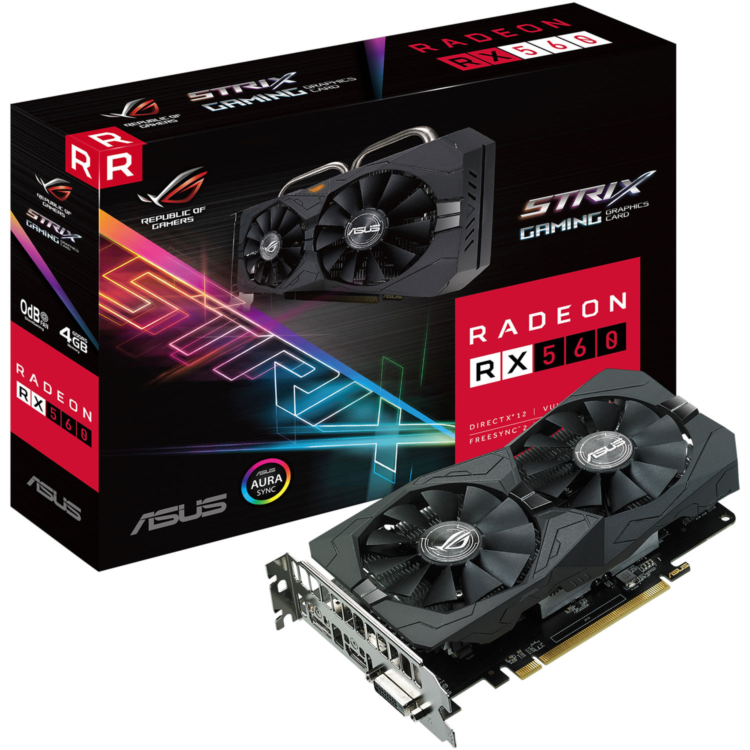 ASUS Republic of Gamers Strix Radeon RX 560 Gaming Graphics Card