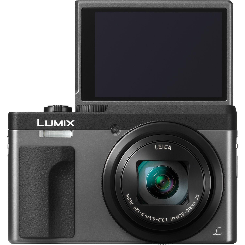 Silver Panasonic Lumix DMC-TZ70EB-S Compact Digital Camera with LEICA DC Vario Lens and 16 GB memory card bundle