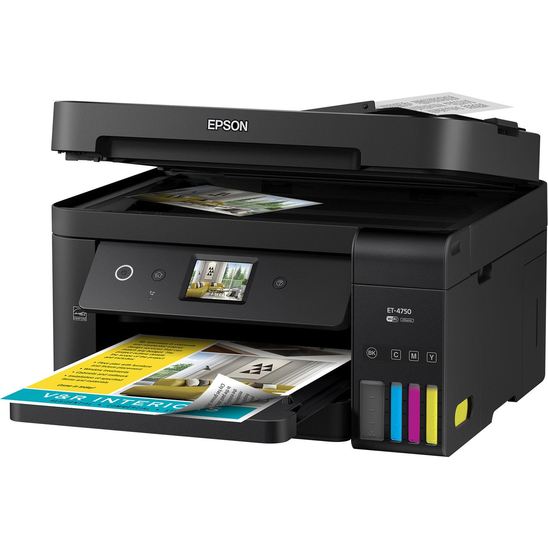 Epson WorkForce ET-4750 EcoTank All-In-One Inkjet Printer