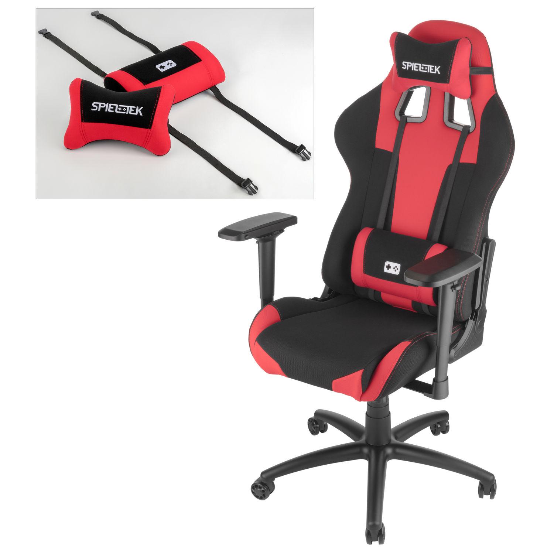 Wondrous Spieltek Berserker Gaming Chair V2 Fabric Red Pdpeps Interior Chair Design Pdpepsorg