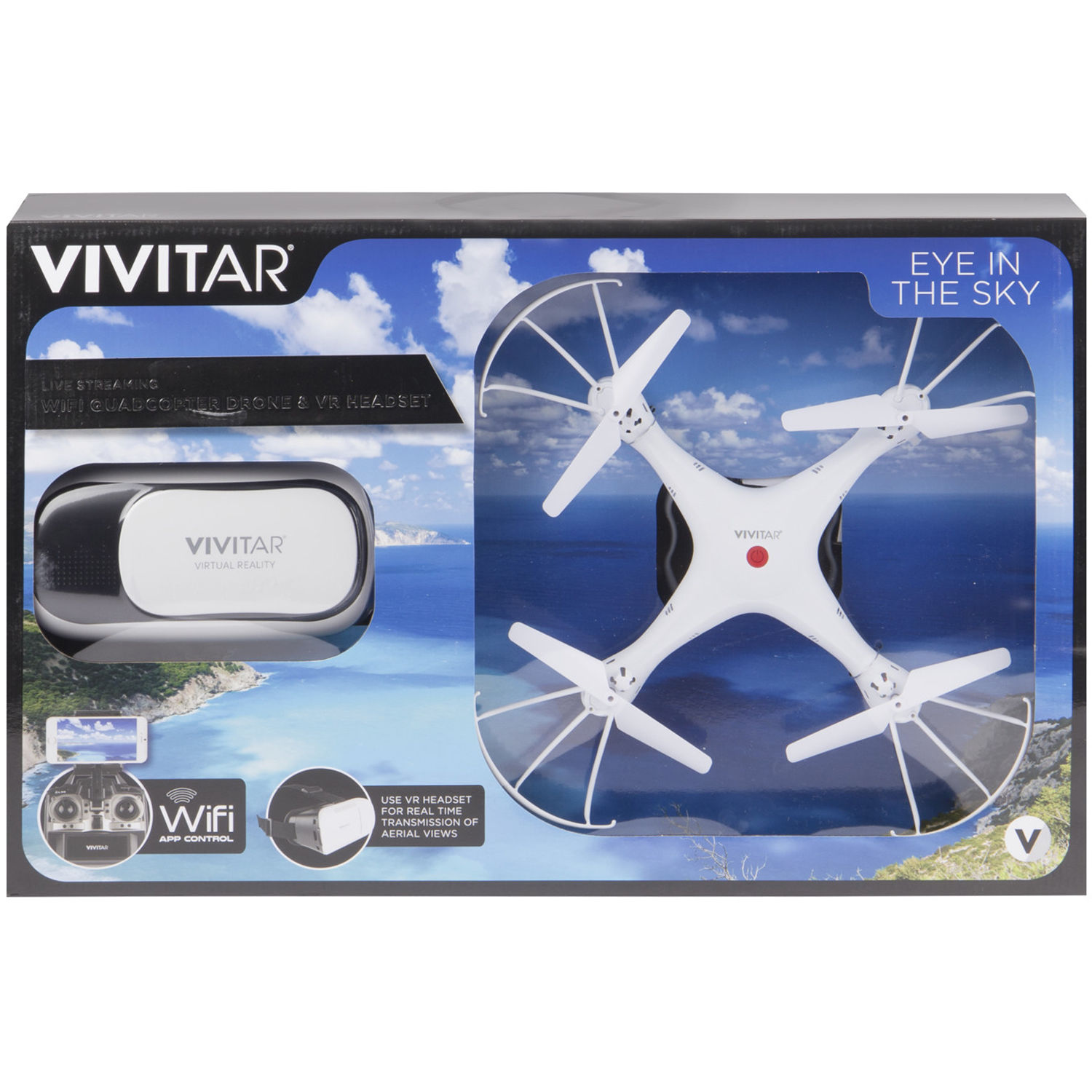 Vivitar DRC125 Drone with VR Goggles