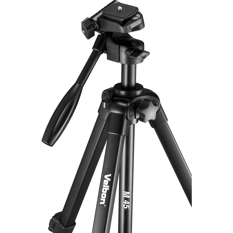 Black Velbon M45 Tripod with 3-Way Pan Head