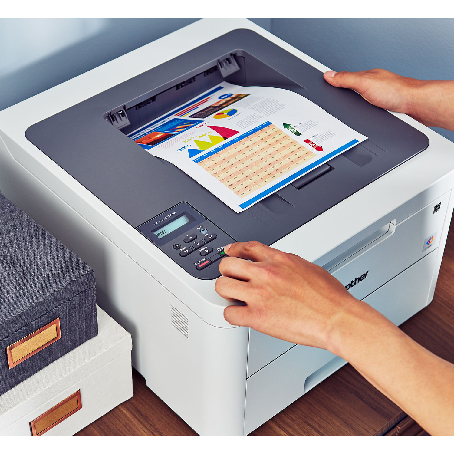 Brother HL-L3210CW Wireless Compact Printer