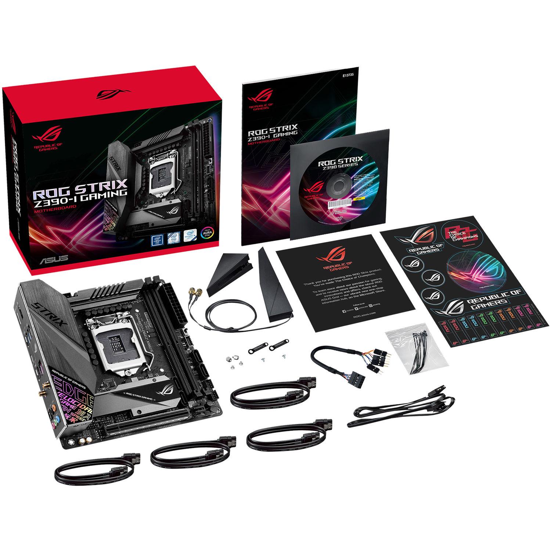 ASUS Republic of Gamers Strix Z390-I LGA 1151 Mini-ITX Gaming Motherboard
