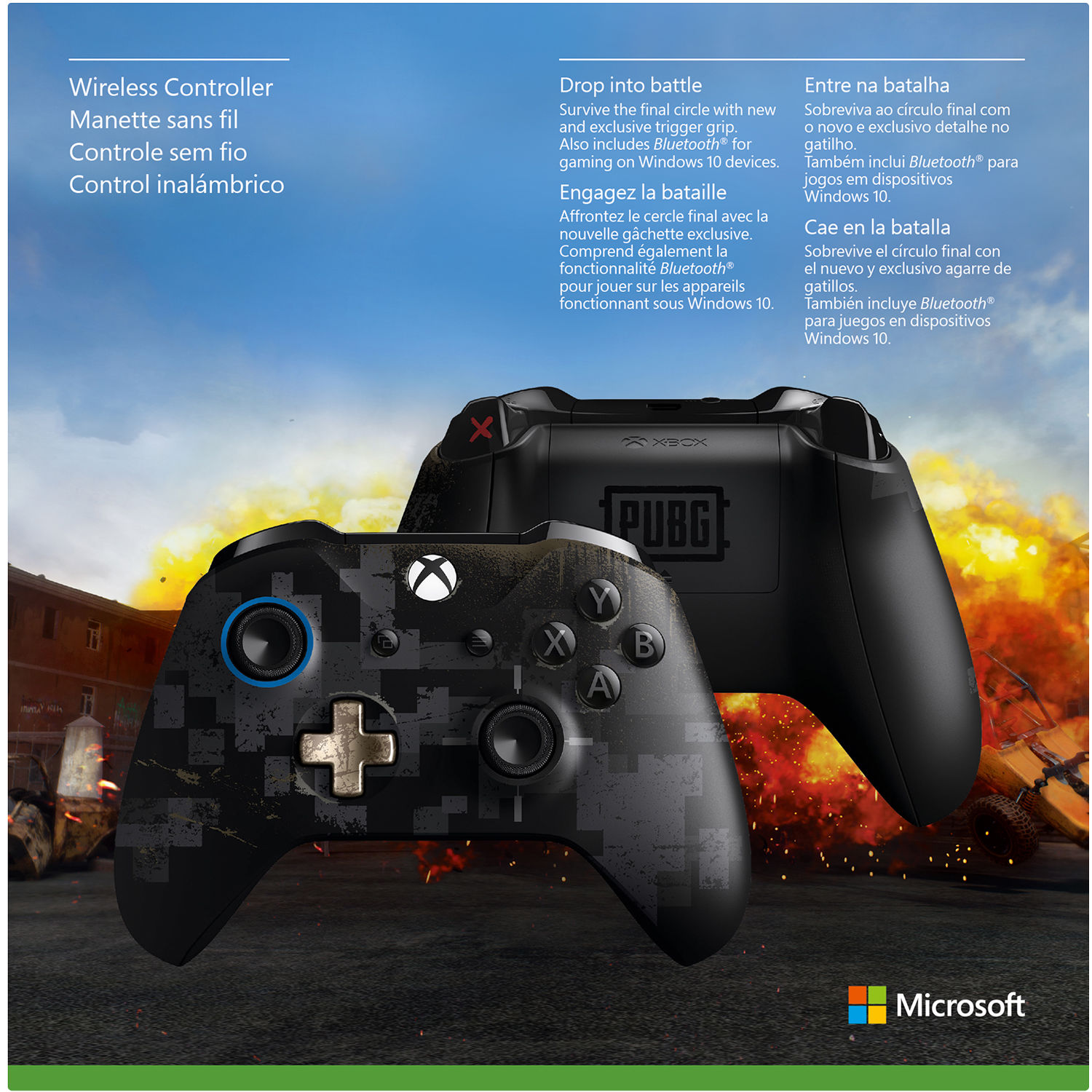 Microsoft Xbox One Wireless Controller (PLAYERUNKNOWN'S BATTLEGROUNDS  Limited Edition)