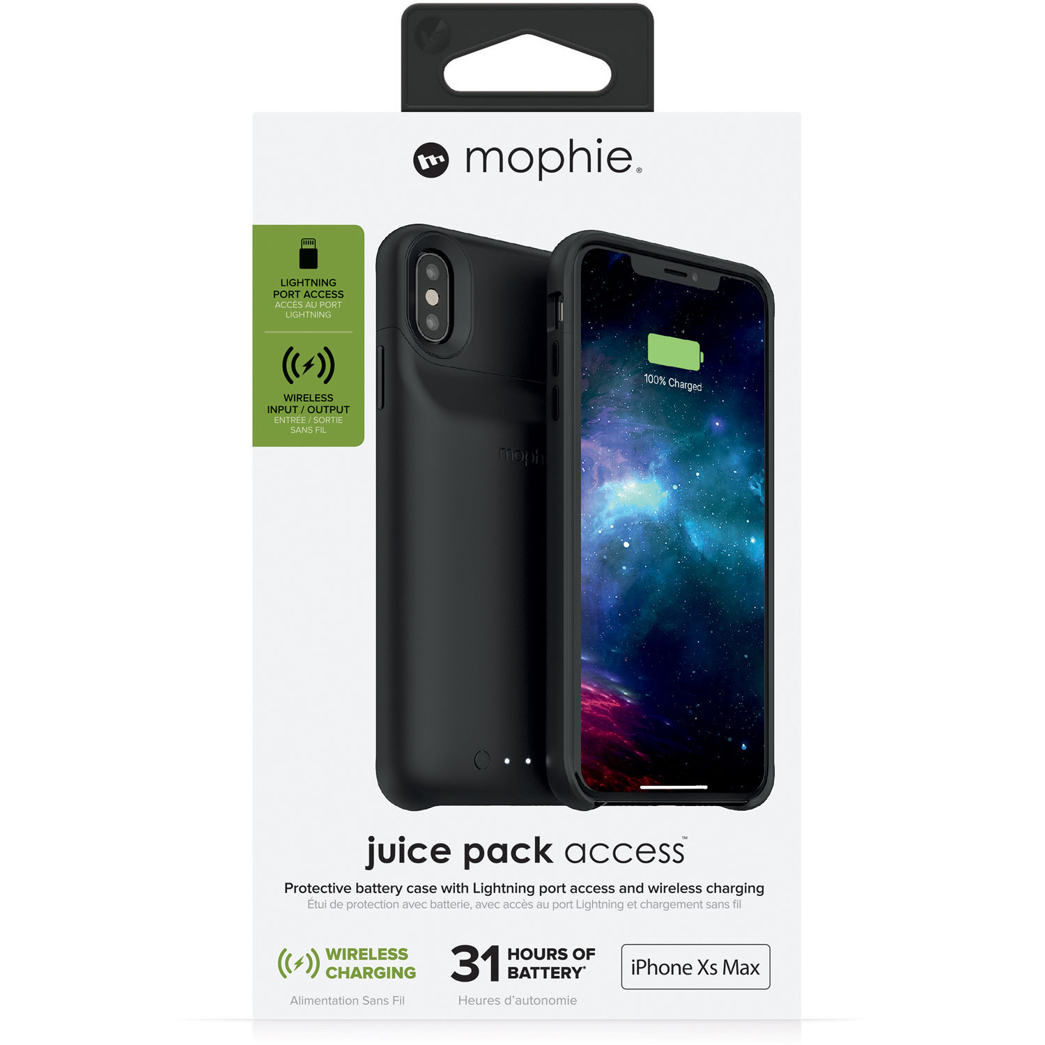 super popular 4fd7b 019fd mophie juice pack access for iPhone Xs Max (Black)
