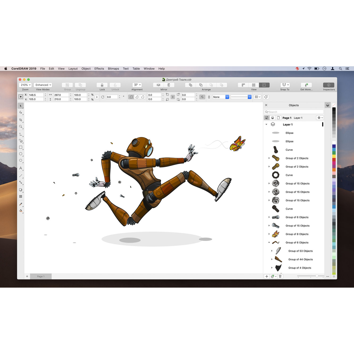 CorelDRAW Graphics Suite 2019 for Mac (Boxed, Education Edition)