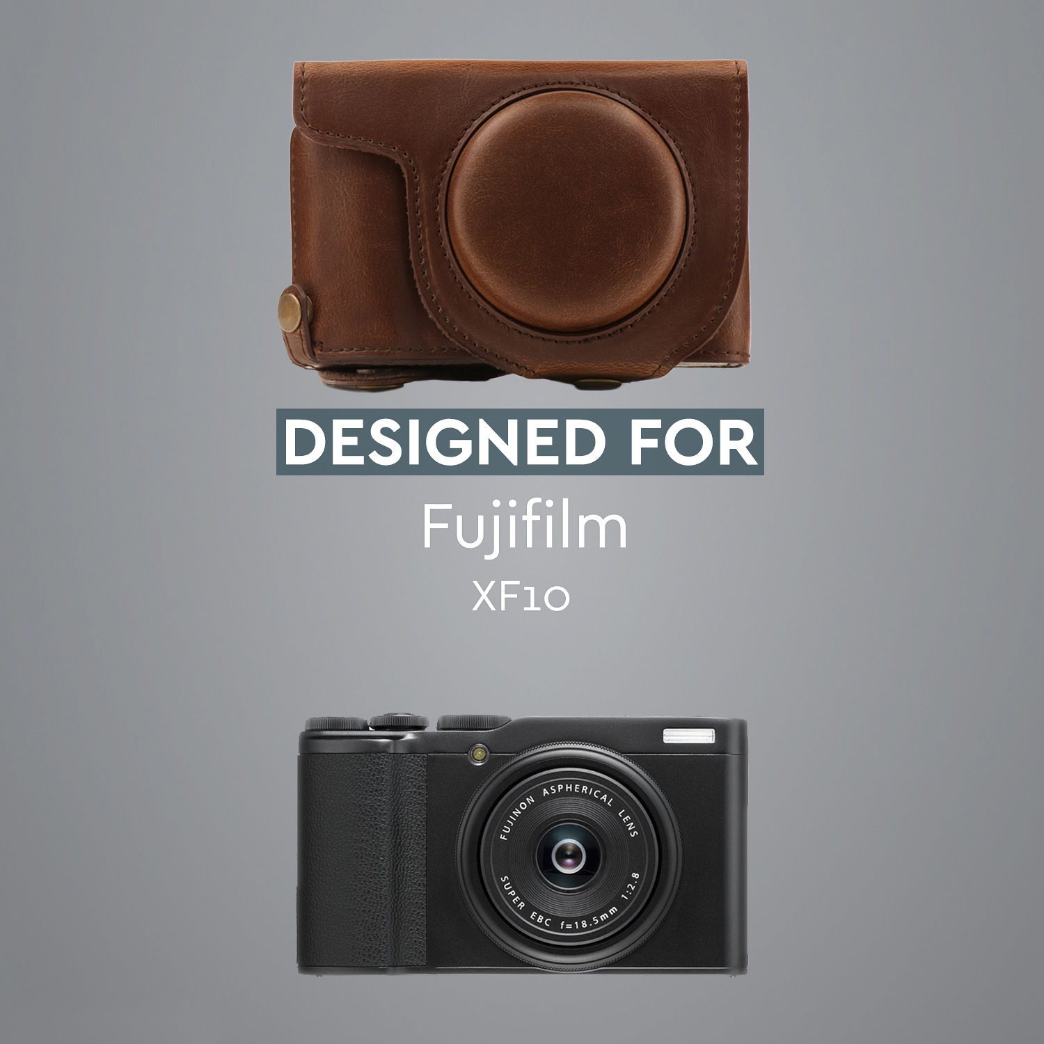 MegaGear Fujifilm XF10 Ever Ready Leather Camera Case and Strap