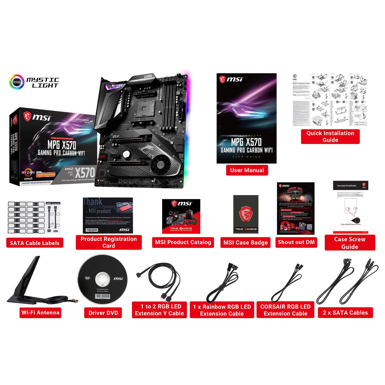 Msi Mpg X570 Gaming Pro Carb Mpg X570 Gaming Pro Carbon Wifi B H