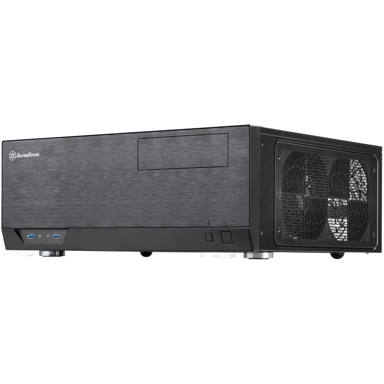 Grandia Series 358mm Depth HTPC Case Silverstone SST-GD09B Black