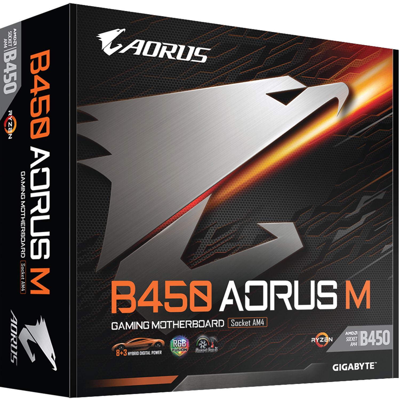 Gigabyte B450 Aorus M Am4 Micro Atx Motherboard B450 Aorus M B H