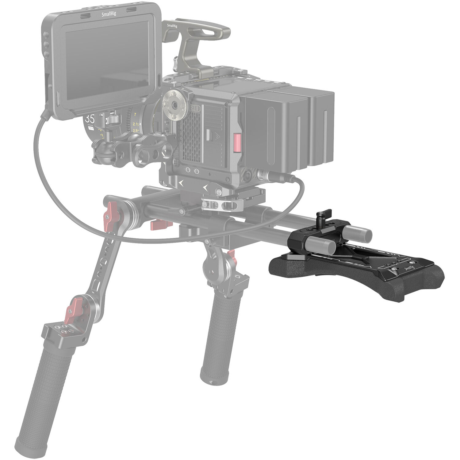 SMALLRIG Universal Basic Camera Shoulder Pad with 15mm LWS Rod Clamp for DSLR 2894 Mirrorless and Small Camera