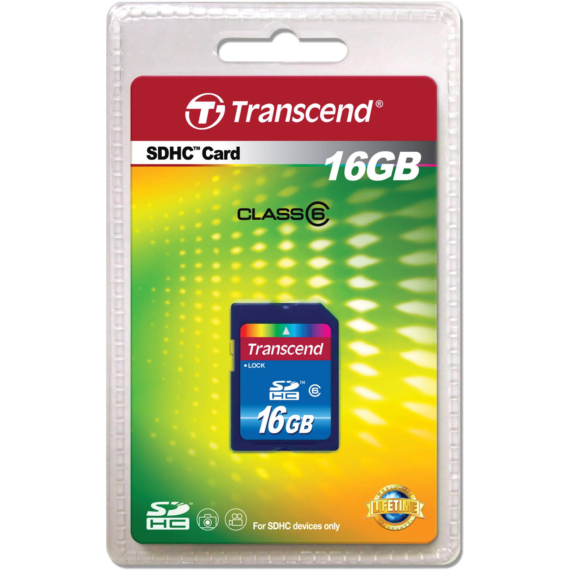 Transcend 16GB microSDHC Card Class 6