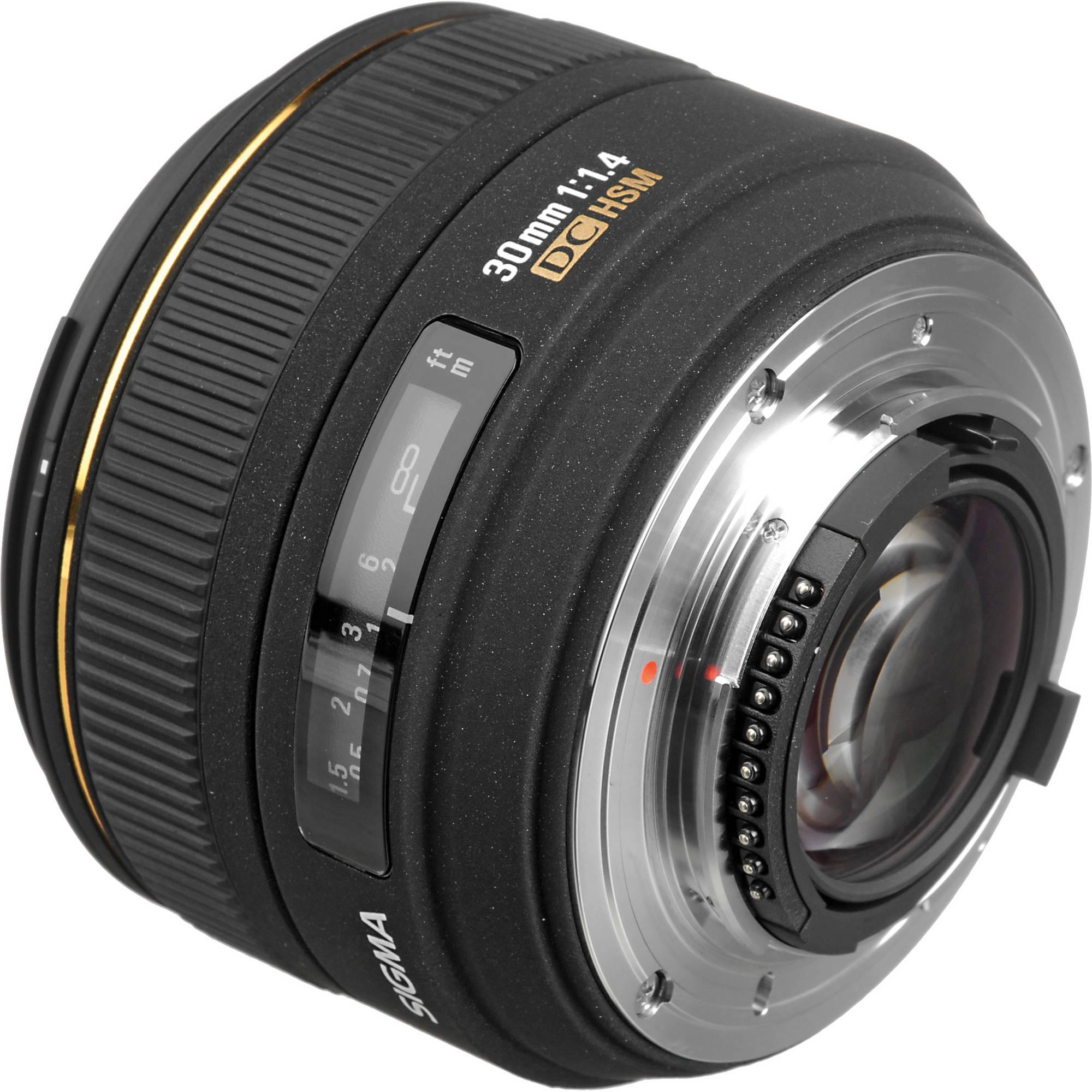 Sigma 30mm f/1 4 EX DC HSM Autofocus Lens for Nikon Digital