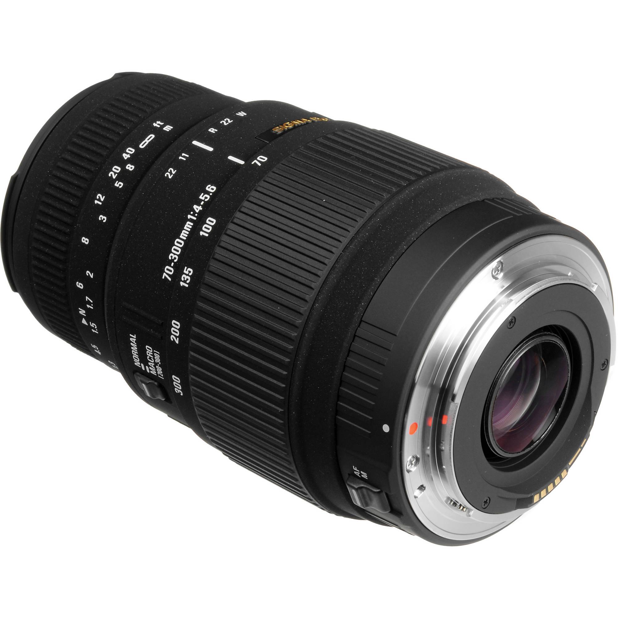 Sigma 70-300mm f/4-5 6 DG Macro Lens for Canon EOS