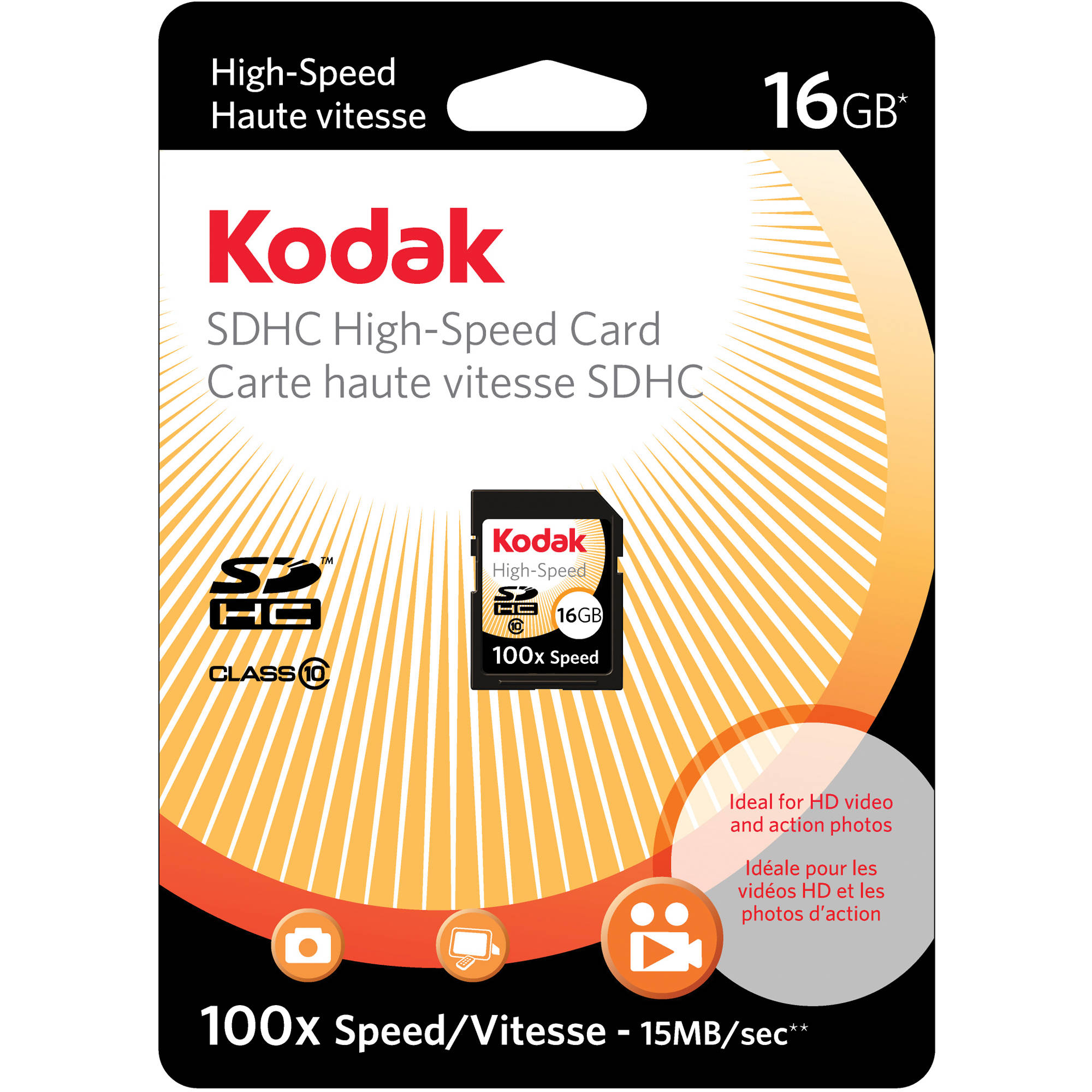 Comes with. A free High Speed USB Adapter is included 16GB Class 10 SDHC Team High Speed Memory Card 20MB//Sec Fastest Card in the Market FOR Kodak EasyShare M863 M873 M883