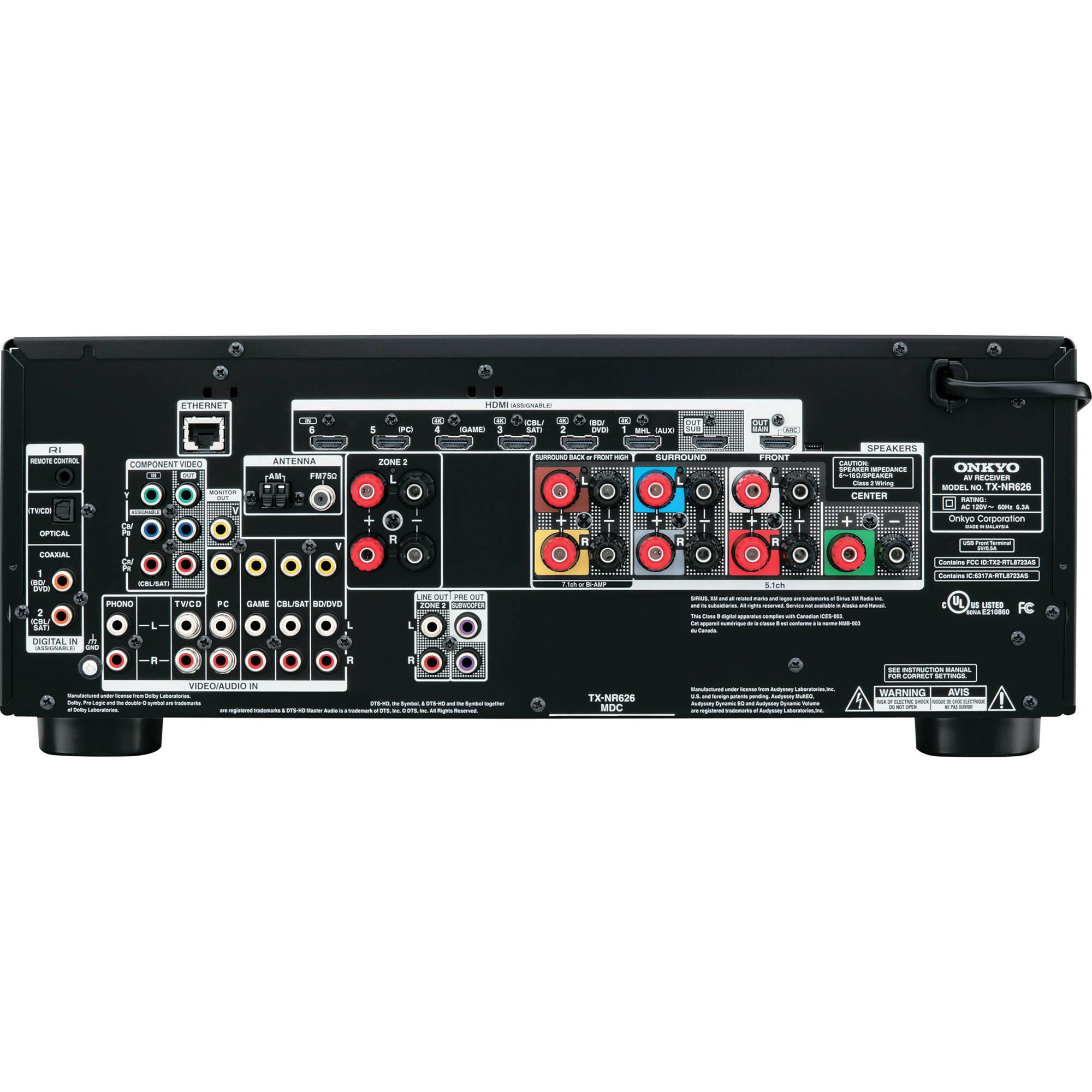 Onkyo TX-NR626 7 2-Channel Network A/V Receiver