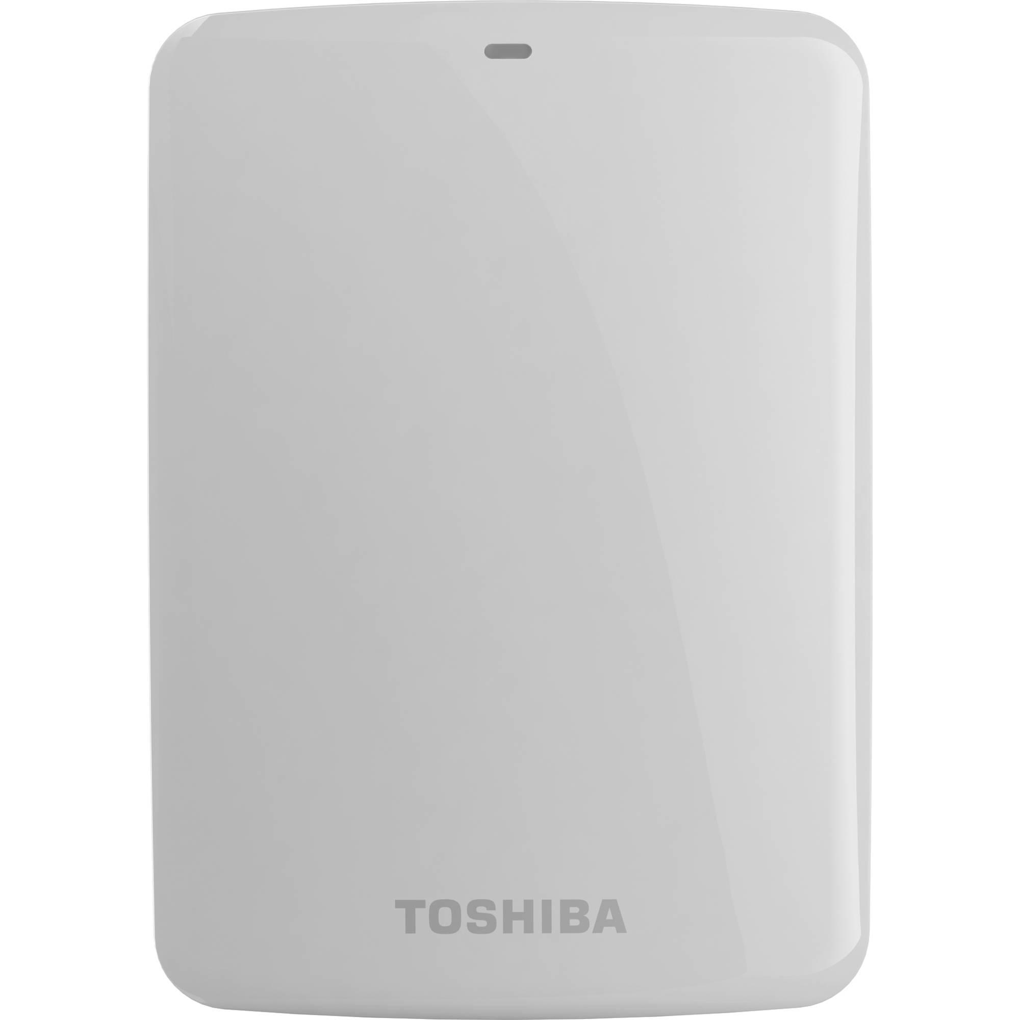 Toshiba 1TB Canvio Connect USB 3 0 Portable Hard Drive (White)