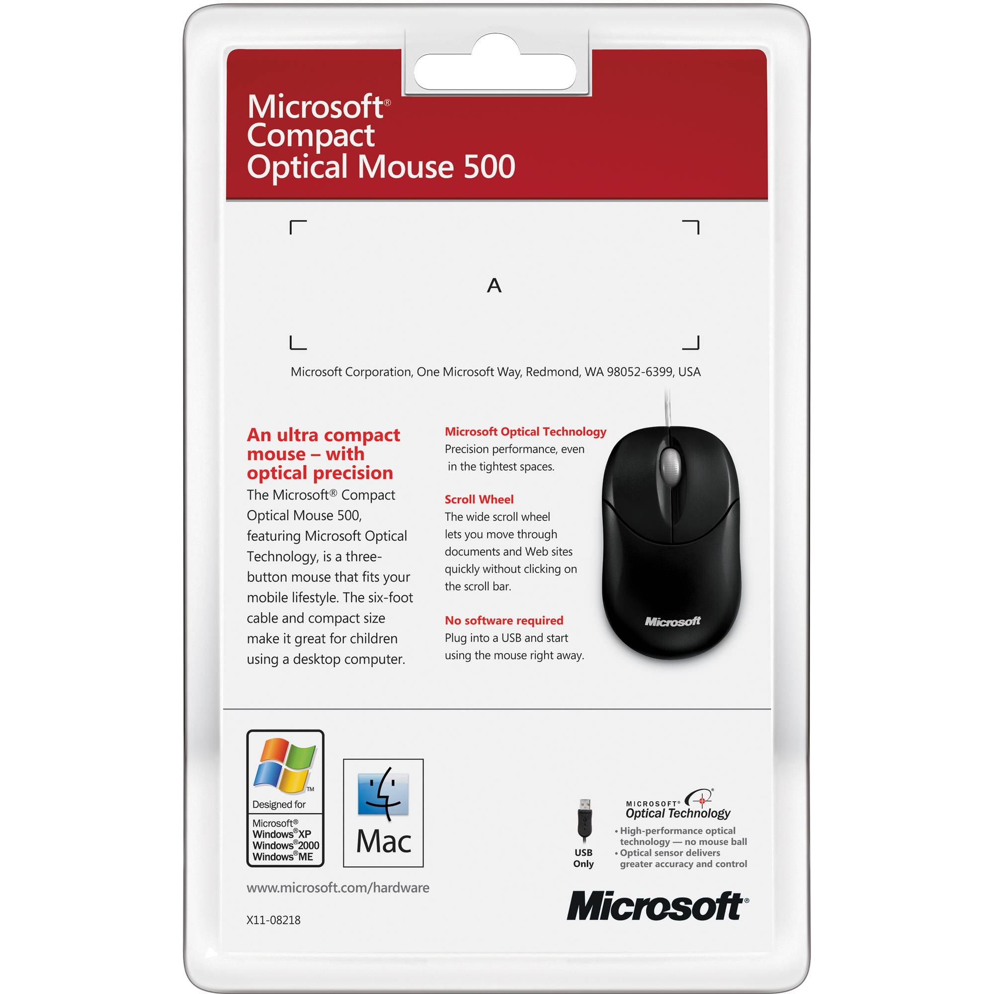 Microsoft Compact Optical Mouse for Business