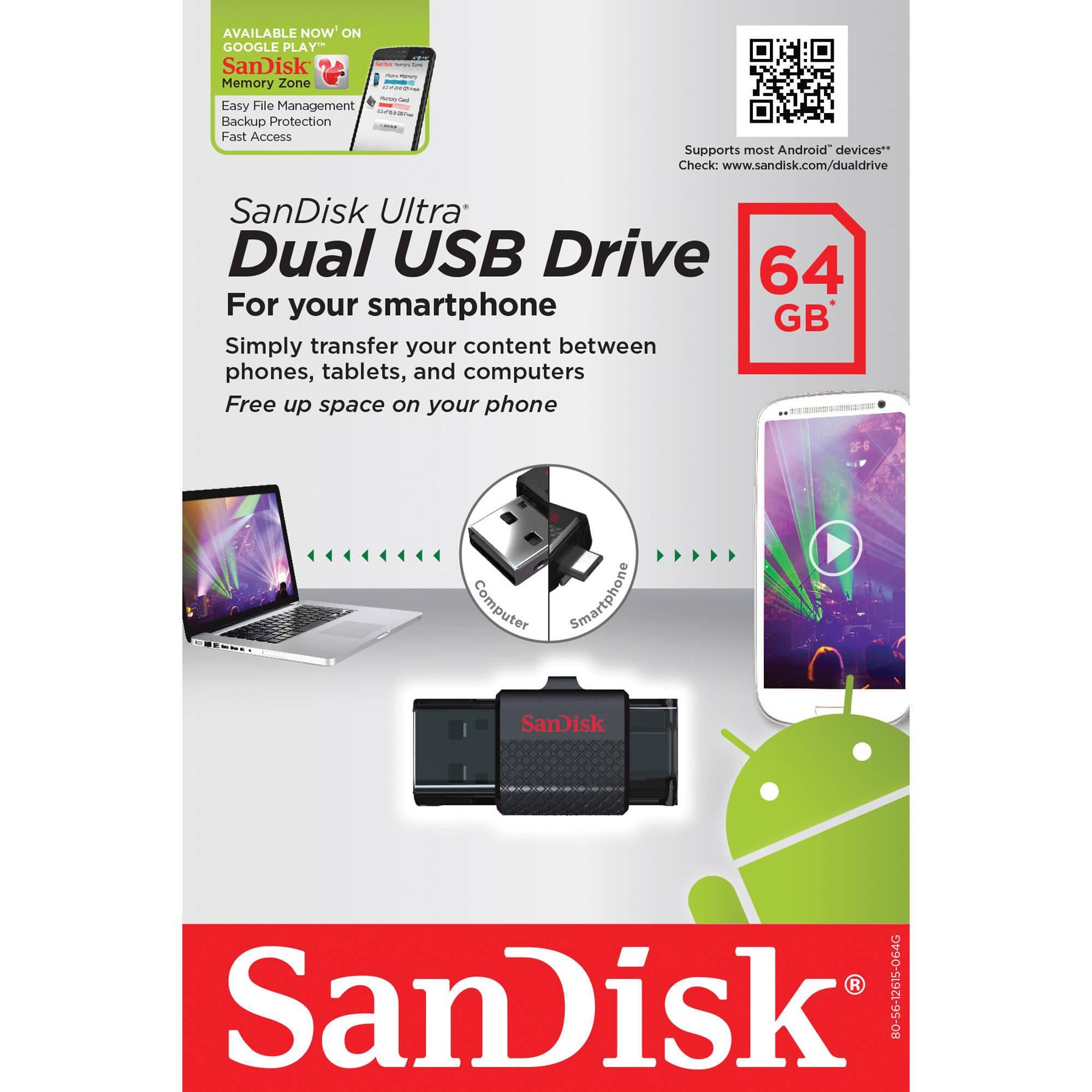 SanDisk 64GB Ultra Dual USB Drive