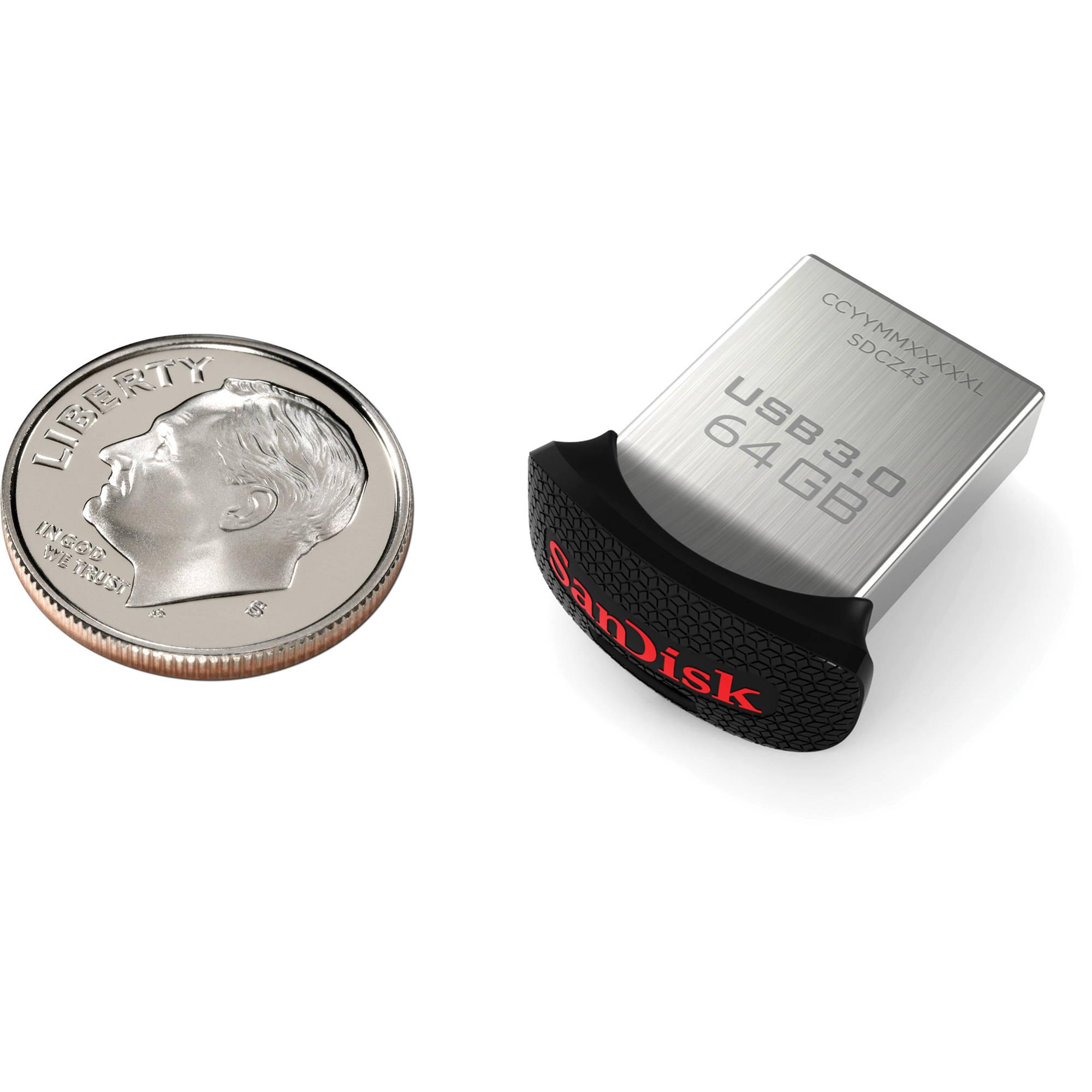 SanDisk 64GB CZ43 Ultra Fit USB 3 0