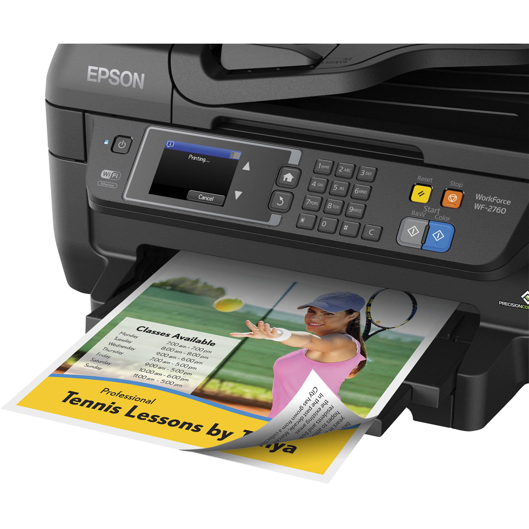 Epson WorkForce WF-2760 All-in-One Inkjet Printer