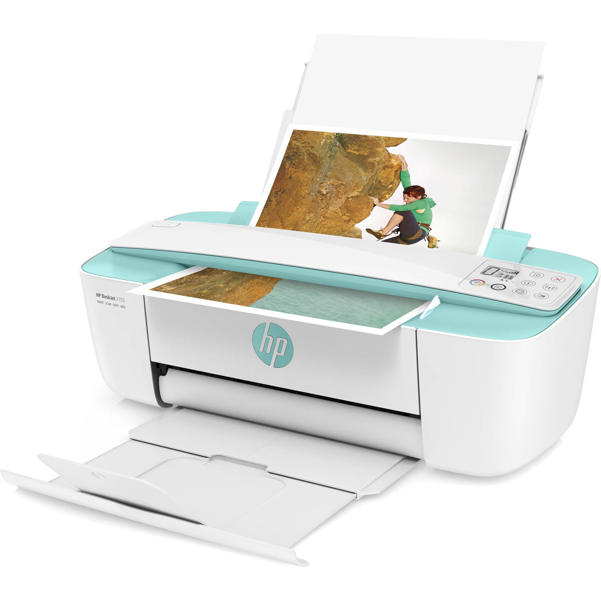 HP DeskJet 3755 All-in-One Inkjet Printer (Sea Foam Green)
