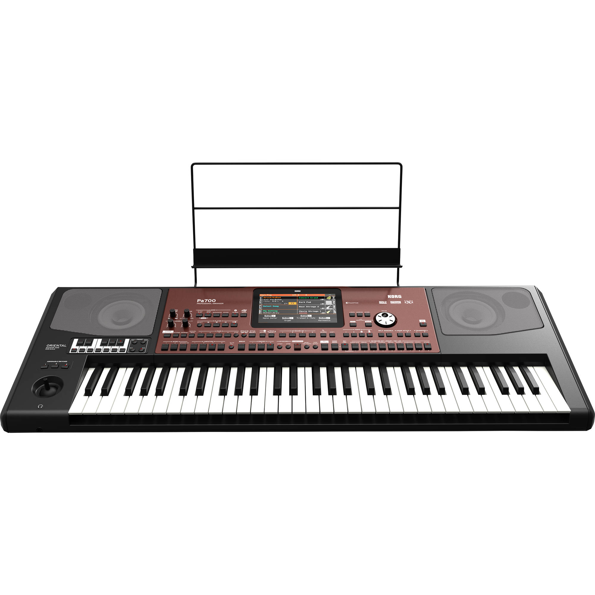 Korg Pa700 ORIENTAL 61-Key Professional Arranger with Touchscreen and  Speakers