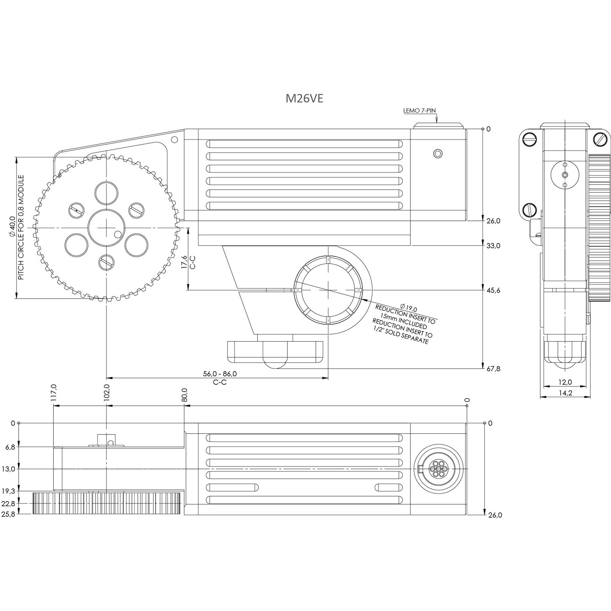 HEDEN M26VE Motor (512 Encoder, 3 3k ID Resistor)