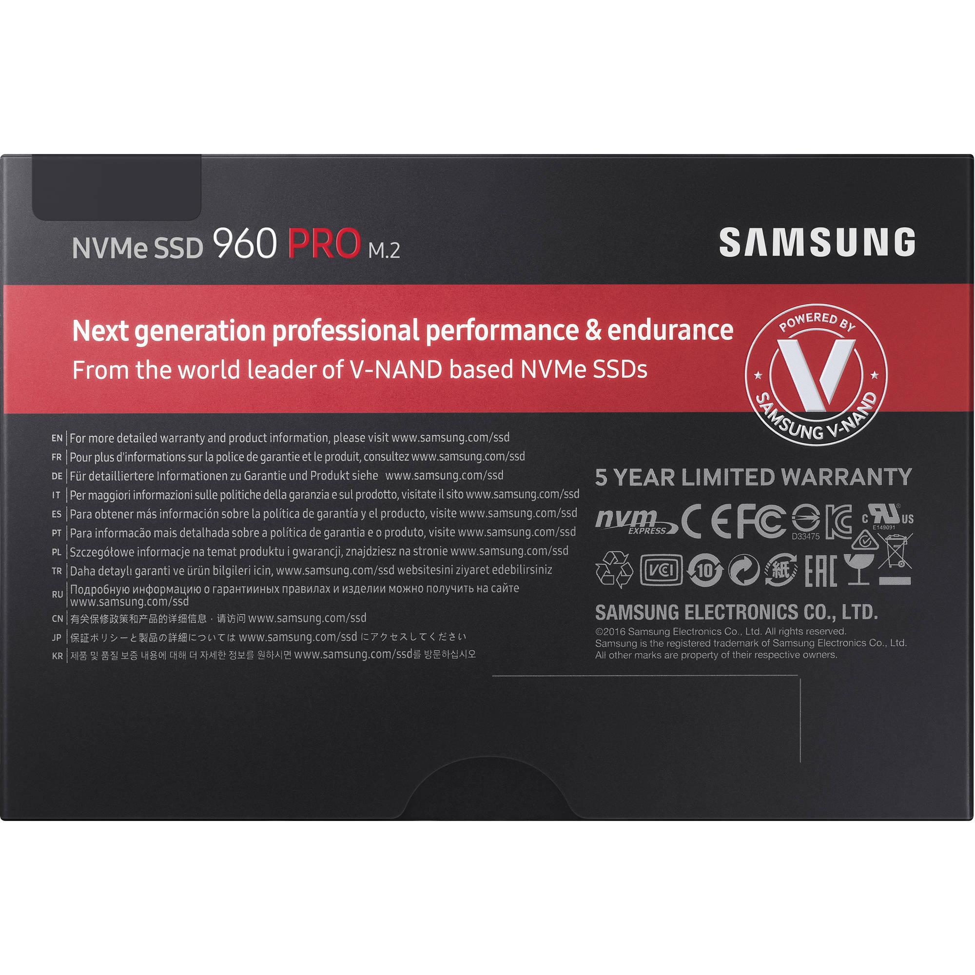 Samsung 1TB 960 PRO M 2 Internal SSD