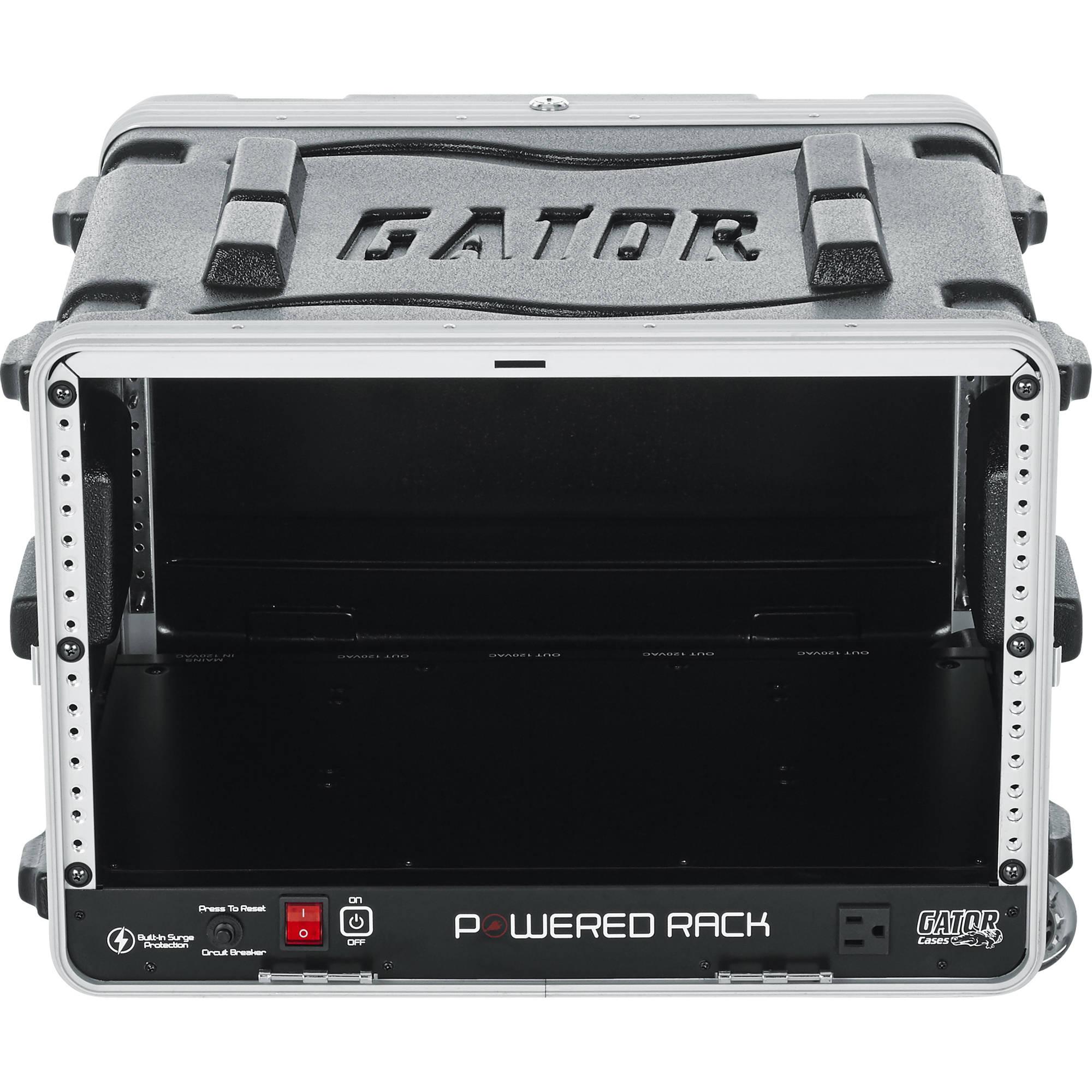 6d127a9c5216 Gator Cases GRR-6PL-US Powered Roller Rack Case GRR-6PL-US B&H