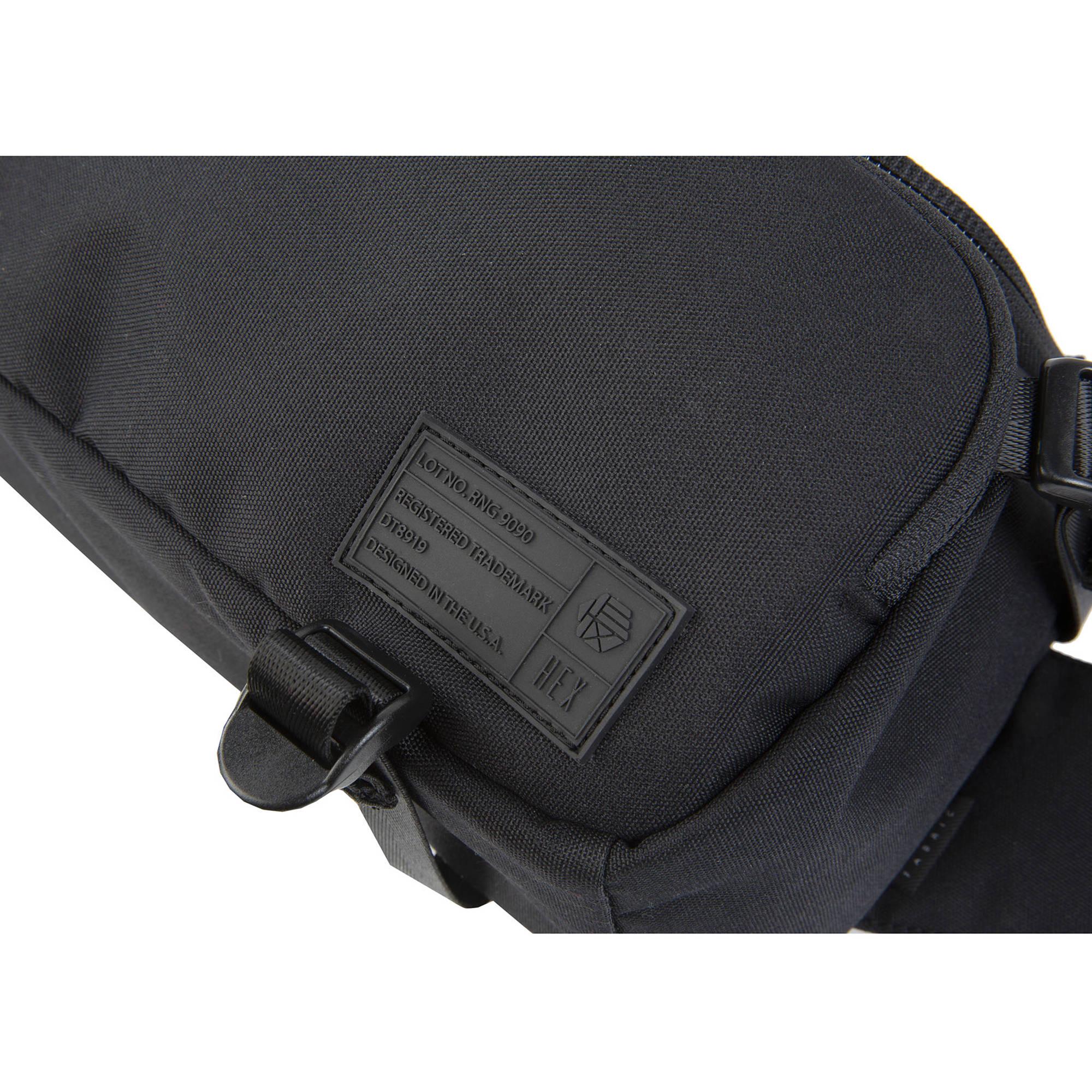 with Adjustable Carry Straps Collapsible Interior Dividers /& More Black Hex Ranger DSLR Sling Black
