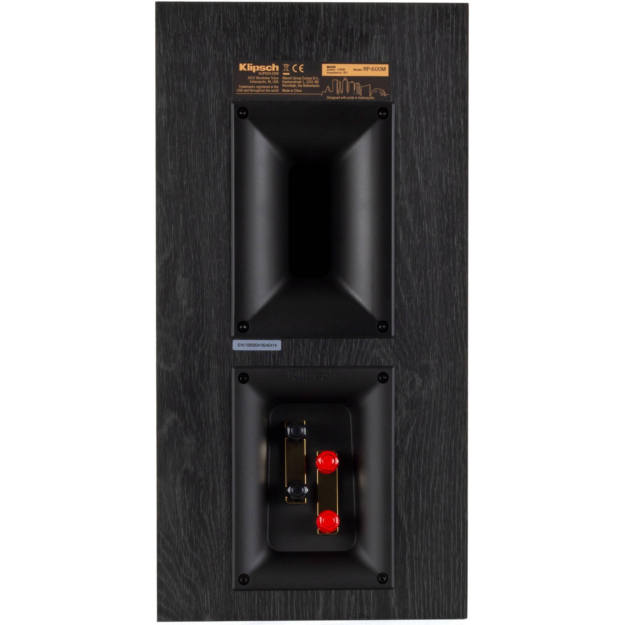 Klipsch Reference Premiere RP-600M 2-Way Bookshelf Speaker (Pair, Walnut)