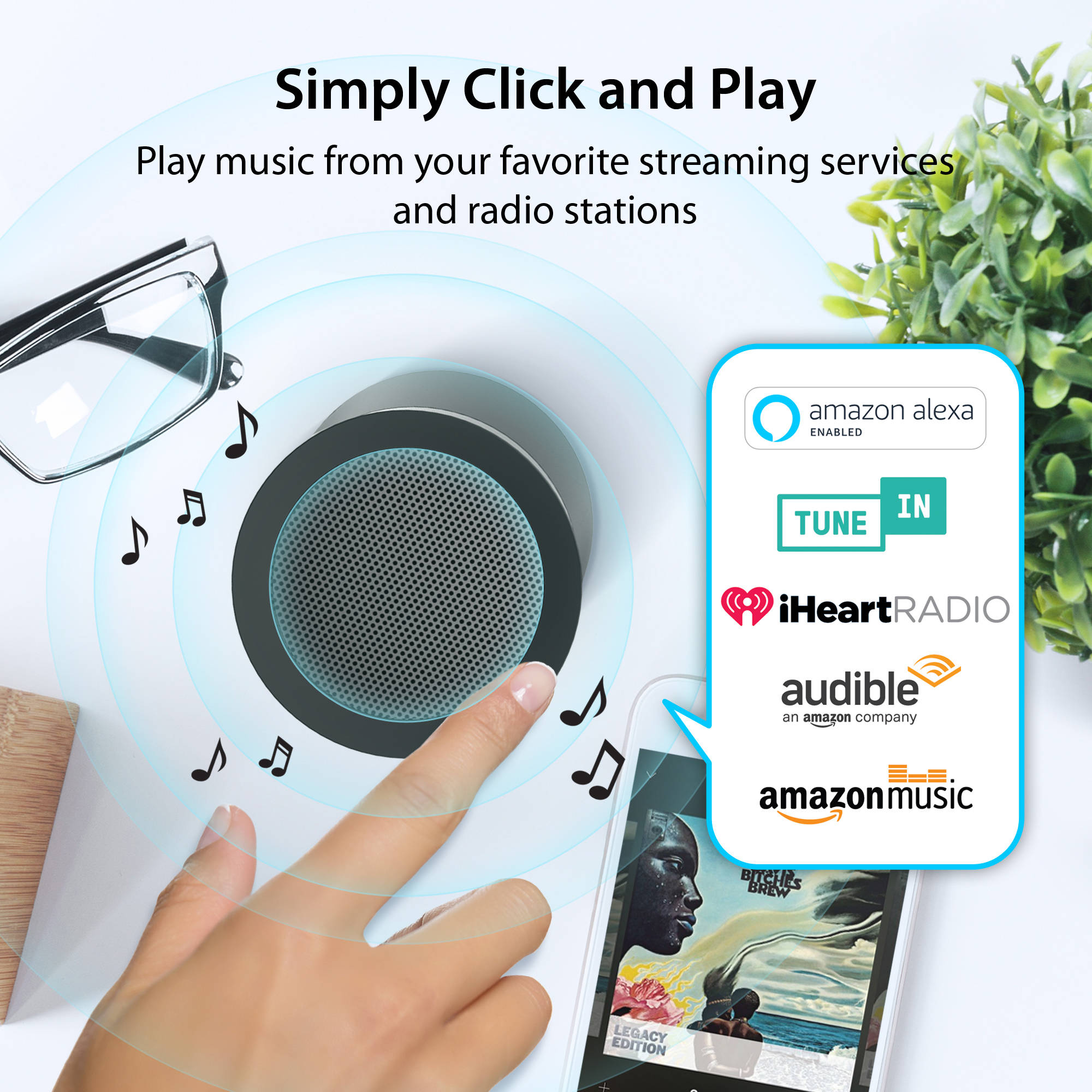 iLuv Aud Click 2 Portable Bluetooth Speaker