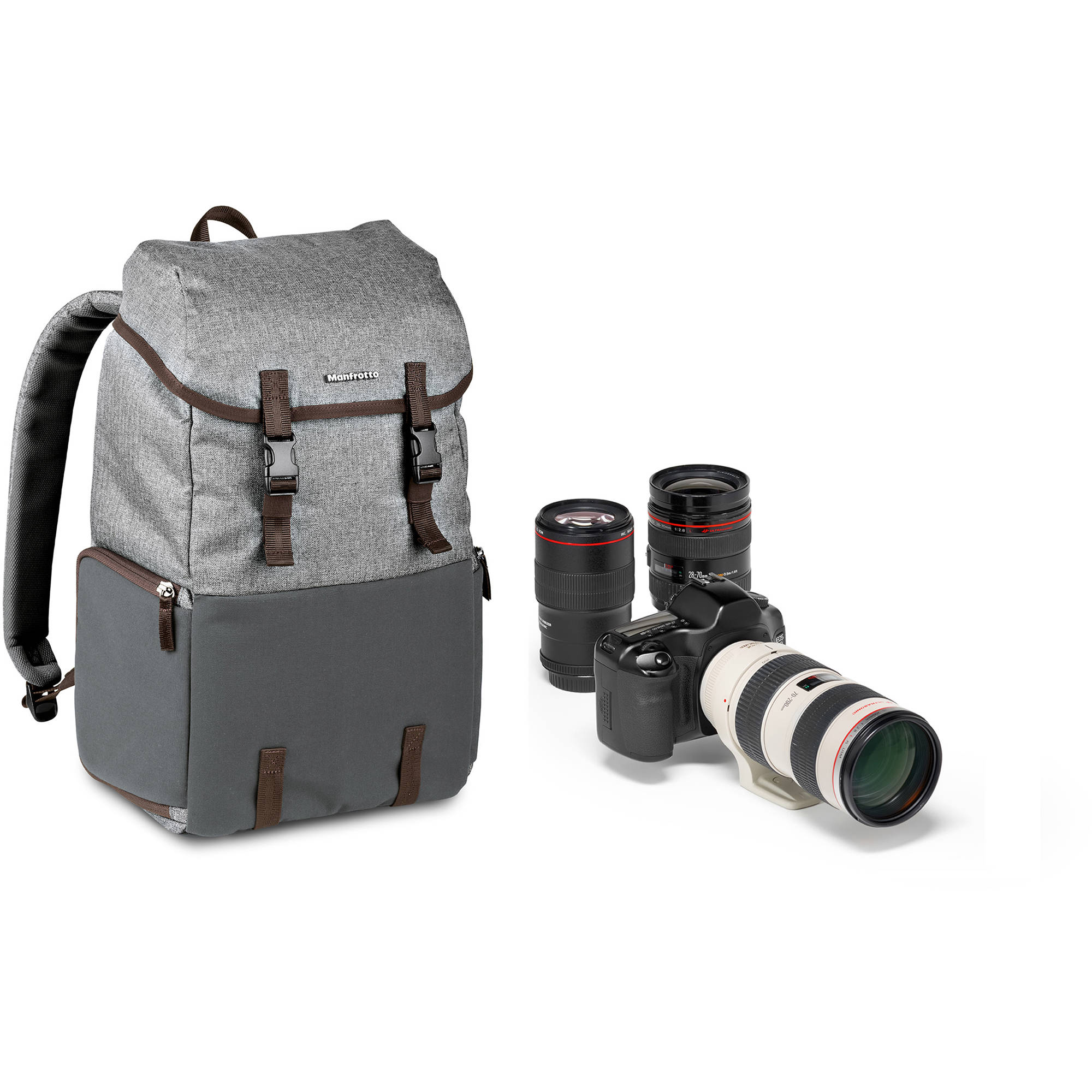 Manfrotto Windsor Explorer Camera Backpack Improved with Clips