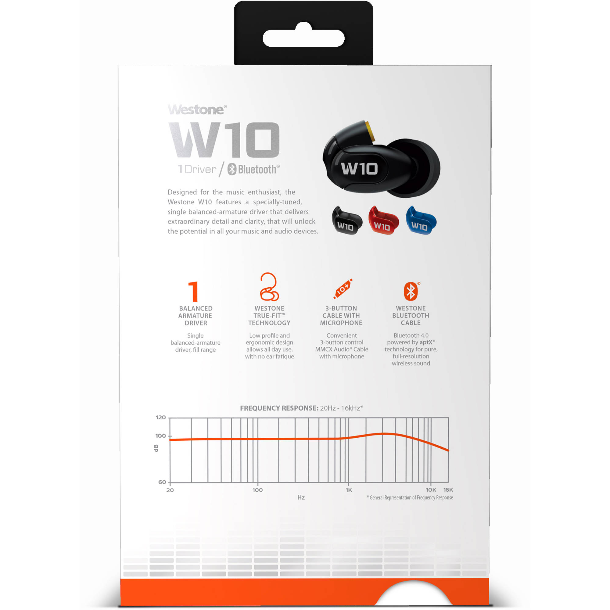 Westone W10 Gen 2 Single-Driver True-Fit Earphones with MMCX and Bluetooth  Cables