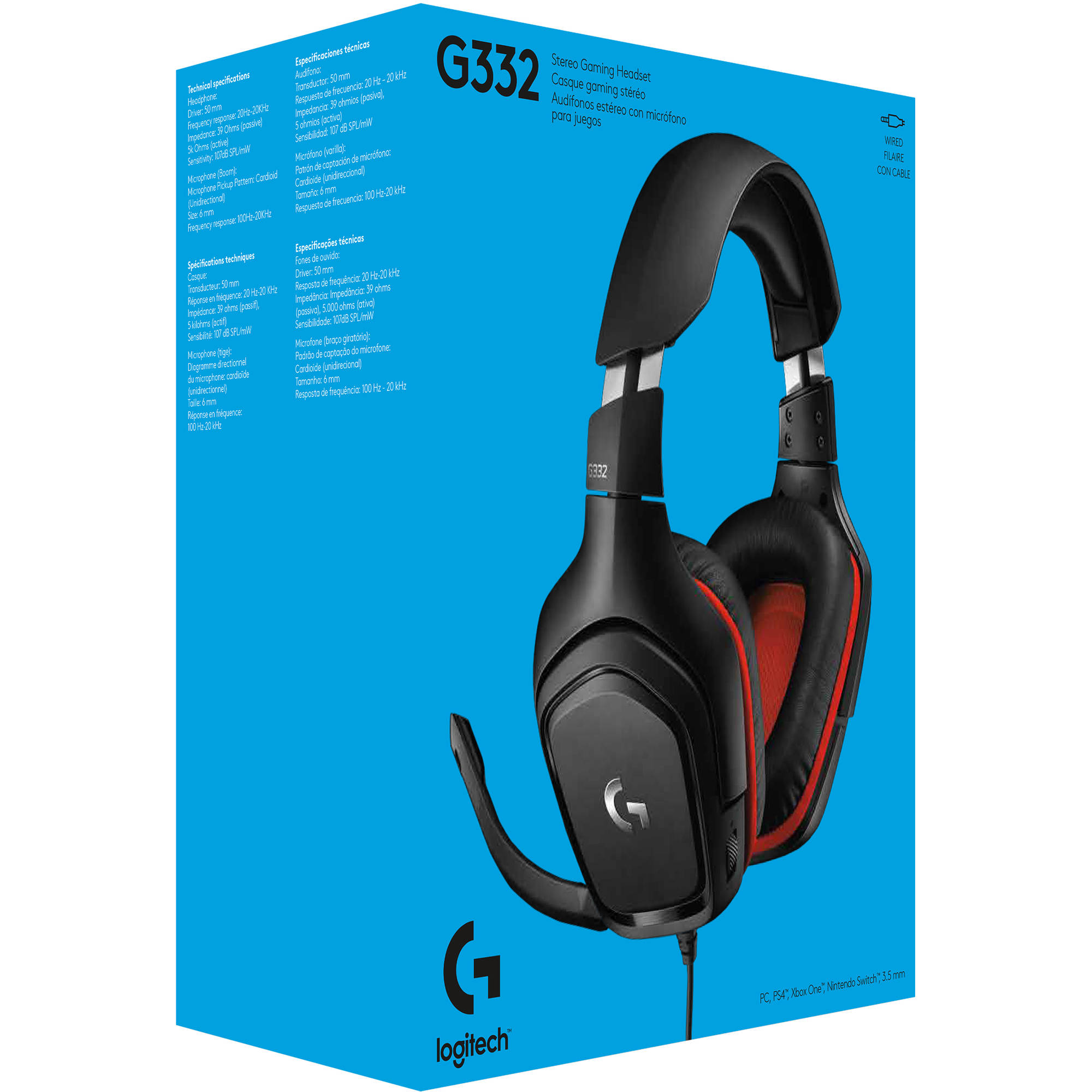 Logitech G332 Wired Stereo Gaming Headset