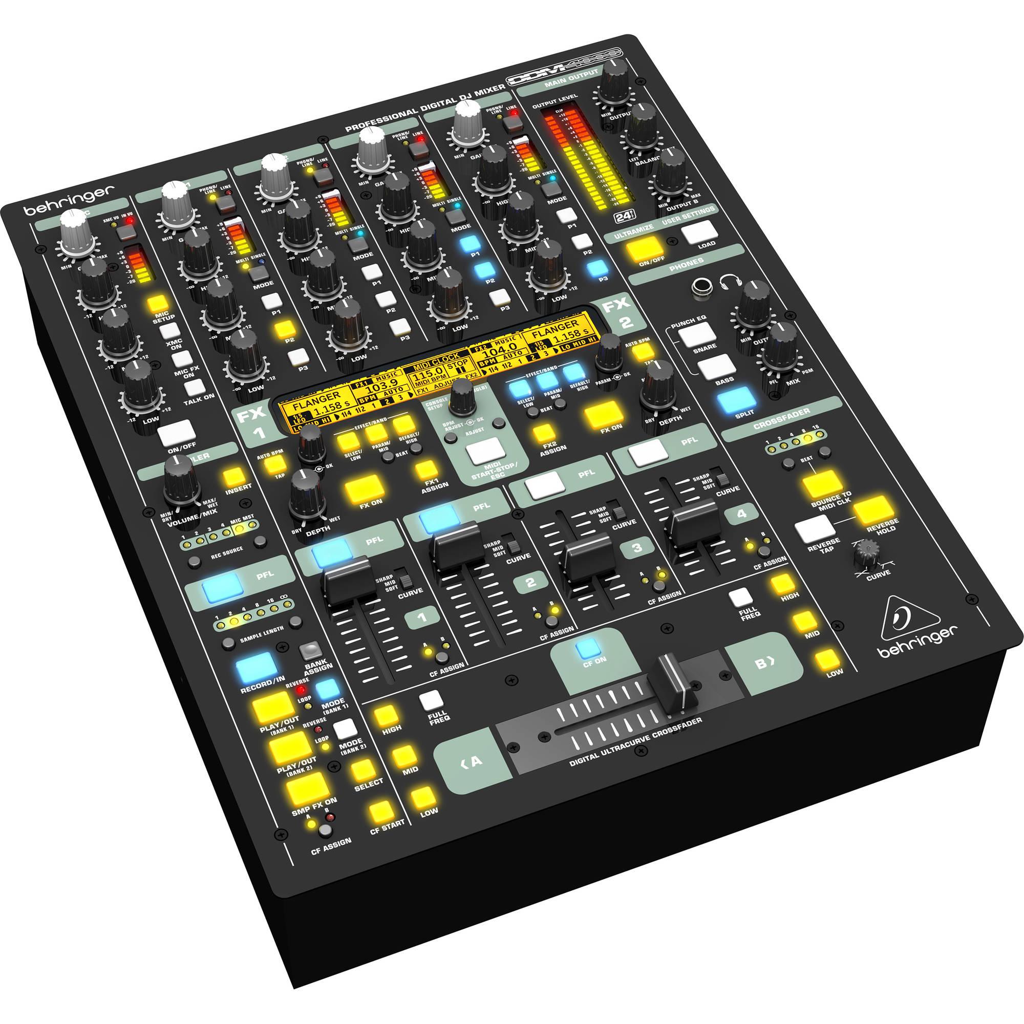 Behringer DDM4000 4-Channel Digital DJ Mixer DDM4000 B&H Photo