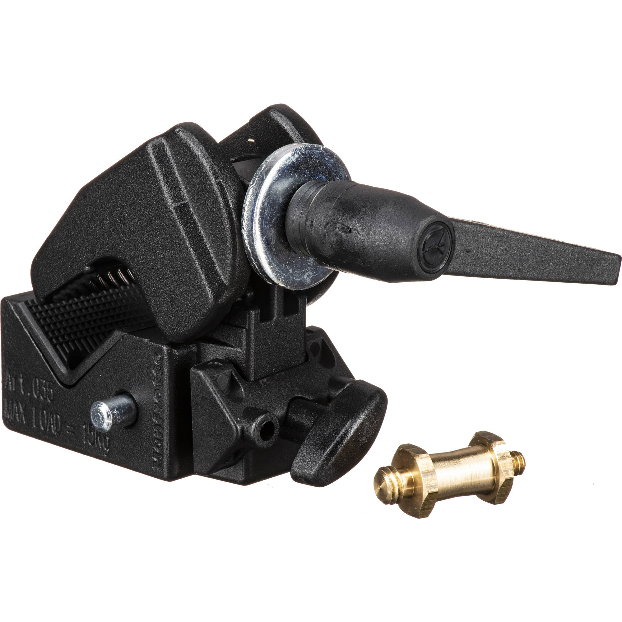 Manfrotto 2909 Super Clamp with 2907 Short Stud,Black,5.3 x 4.1 x 2.6 inches