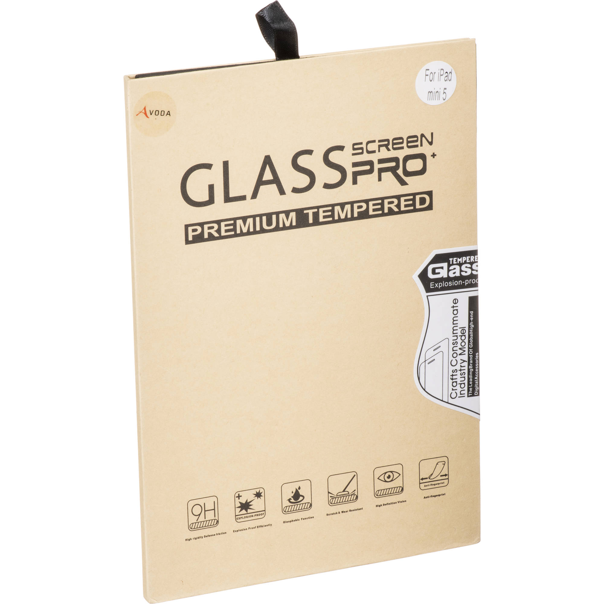 AVODA Clear Tempered Glass Screen Protector for iPad mini (Early 2019)