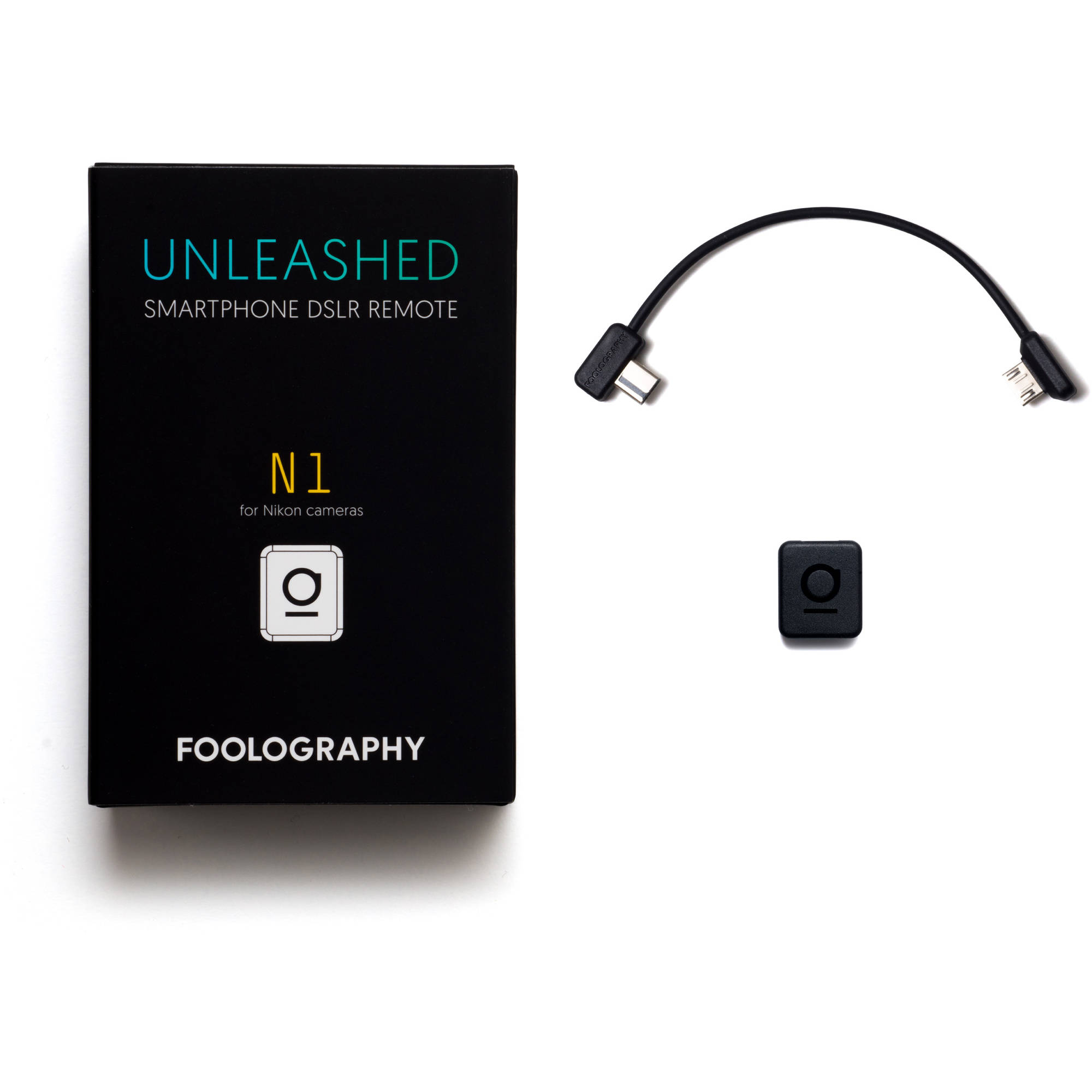 Model N1 for Nikon Pro Cameras with Mini-USB UNLEASHED Bluetooth Remote Shutter Release for Nikon Complete Control via App, Timelapse, Long Exposure, Geotagging, Video