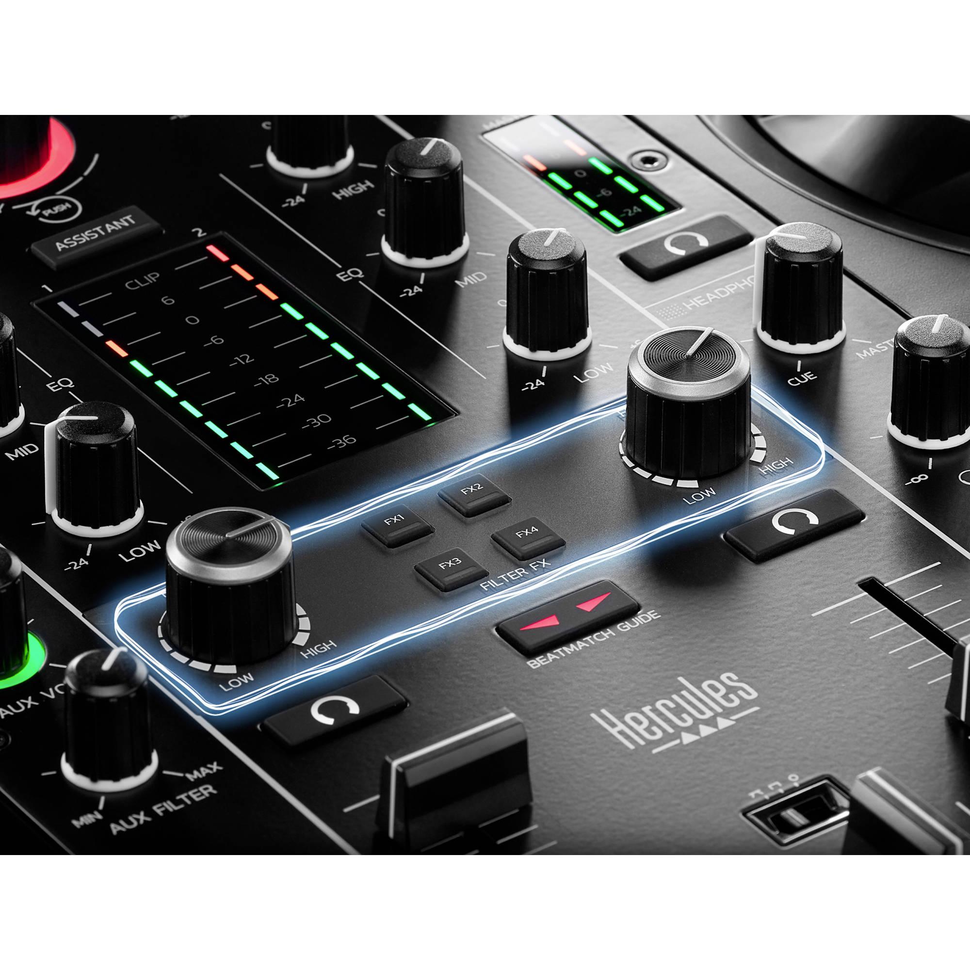 HERCULES DJControl Inpulse 500 Gold Edition /— Edizione limitata /— Controller DJ USB a doppio banco per Serato DJ Pro e DJUCED